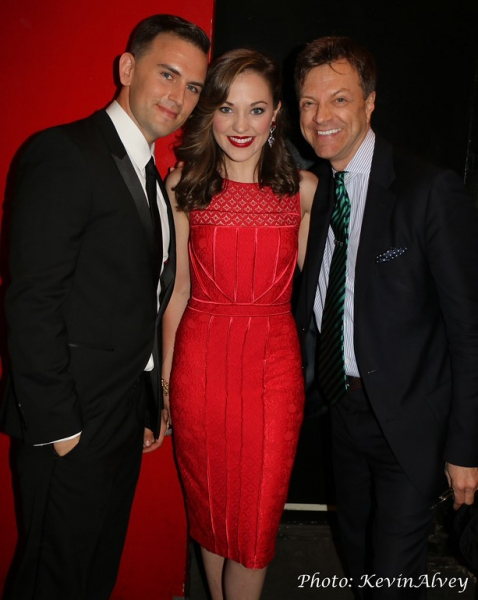 Daniel Reichard, Laura Osnes and Jim Caruso