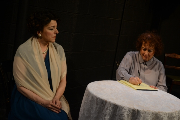 Dorothy Weems as Rose Kennedy with Laurie Sammeth as Luella Henessy