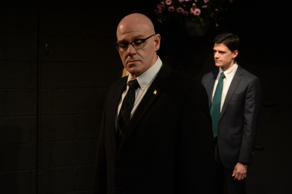 Orlando Iriarte as Joseph P. Kennedy with Colin Fisher as John F. Kennedy