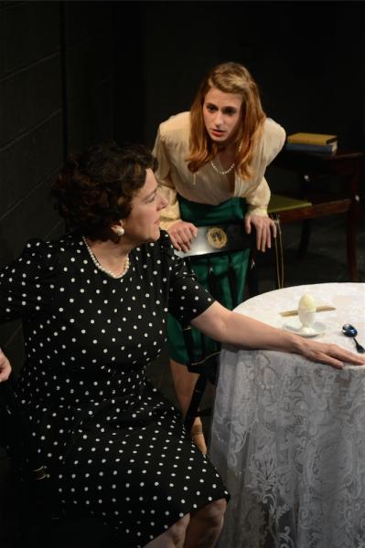Rachel Adams as Eunice Kennedy with Dorothy Weems as Rose Kennedy
