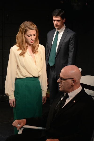 Rachel Adams as Eunice Kennedy with Orlando Iriarte as Joseph P. Kennedy and Colin Fisher as John F. Kennedy