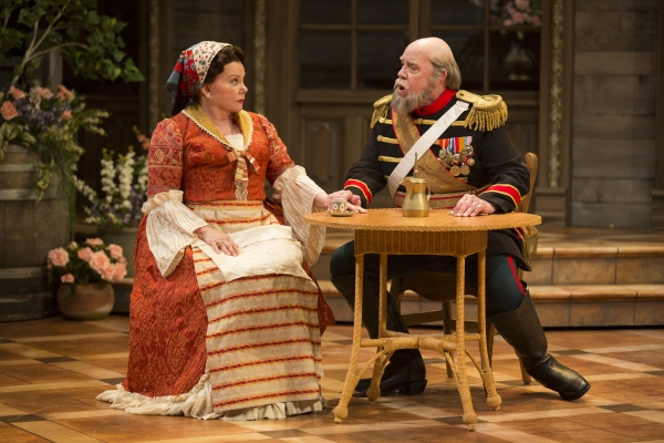 Marsha Mason as Catherine Petkoff and Conrad John Schuck as Major Paul Petkoff Photo