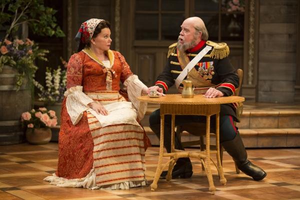 Marsha Mason as Catherine Petkoff and Conrad John Schuck as Major Paul Petkoff