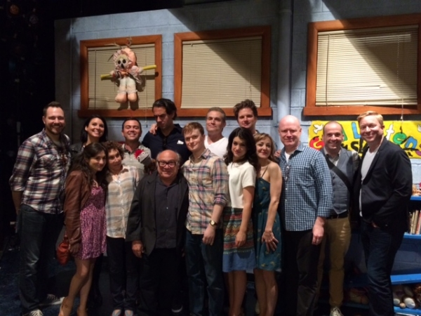 Bobby Cannavale, Joe Lo Truglio, Danny DeVito and Rhea Pearlman visit HAND TO GOD