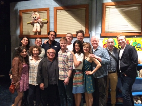 Bobby Cannavale, Joe Lo Truglio, Danny DeVito and Rhea Pearlman visit HAND TO GOD  Photo