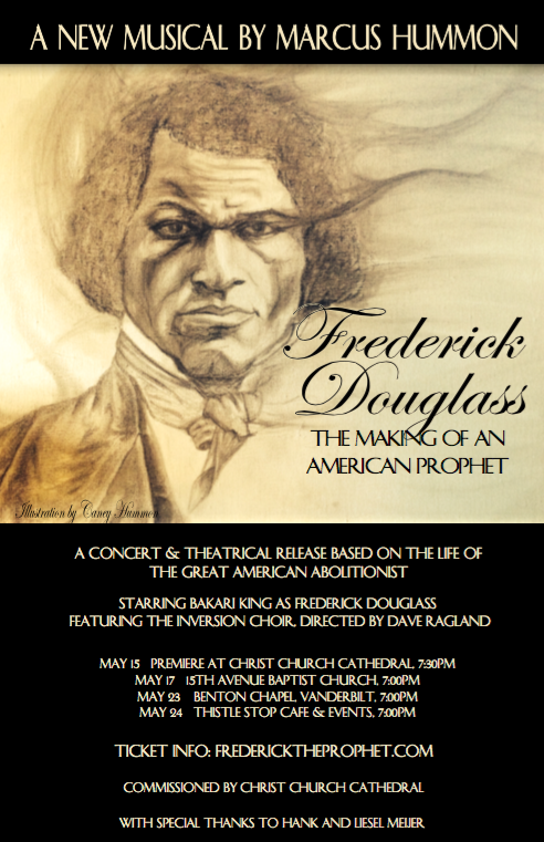 Marcus Hummon to Premiere FREDERICK DOUGLASS: THE MAKING OF AN AMERICAN PROPHET This Month