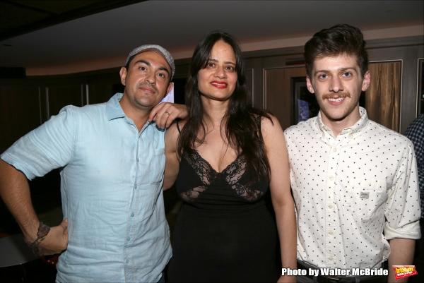 Playwrights Camilo Almonacid, Shyla Idris and Nikolai Mishler