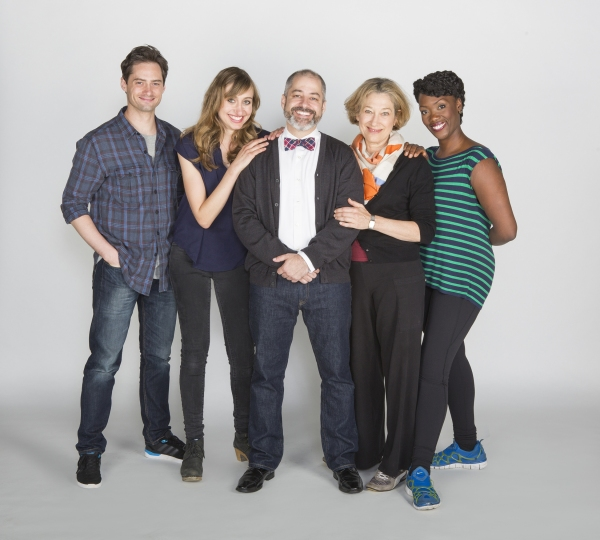 Director James Vaquez (center) with the cast of Rich Girl: (from left) JD Taylor, Lauren Blumenfeld, Meg Gibson, and Carolyn Michelle Smith.