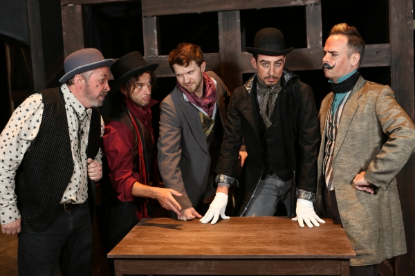 Macheath''s gang of thieves - Kent Coffel as Crookfinger Jake, Todd Micali as Walt Dreary, Luke Steingruby as Bob the Saw, Todd Schaefer as Capt. Macheath, and Brian Claussen as Readymoney Matt