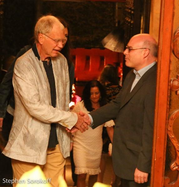 David Letterman & Michael Gyure, Executive Director Photo