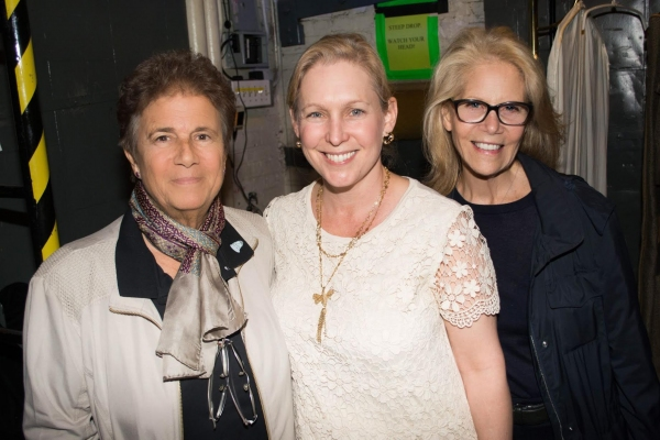 Producers Jayne Baron Sherman & Daryl Roth with Senator Kristen Gillibrand