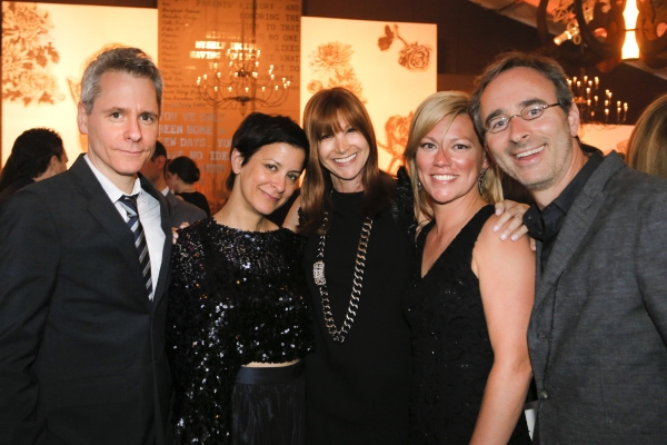 Ensemble member Bruce Norris, Ensemble member Anna D. Shapiro, Liz Lefkofsky, Steppenwolf Board Chair Nora Daley, Steppenwolf trustee Eric Lefkofsky