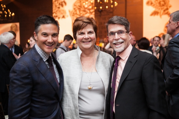 Jay Owen with Deann Bayless and Chef Rick Bayless  Photo