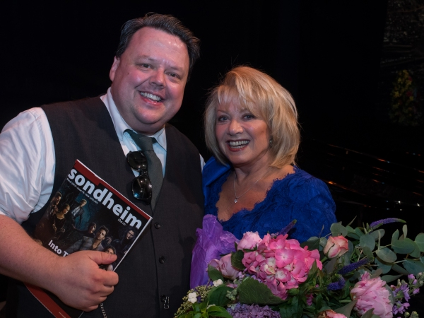 Craig Glenday and Elaine Paige
