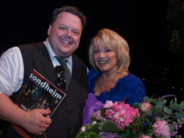 Craig Glenday and Elaine Paige