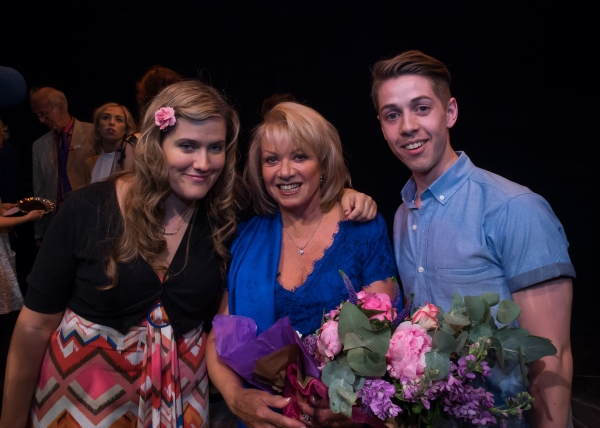 Pippa Cleary, Elaine Paige and Jake Brunger