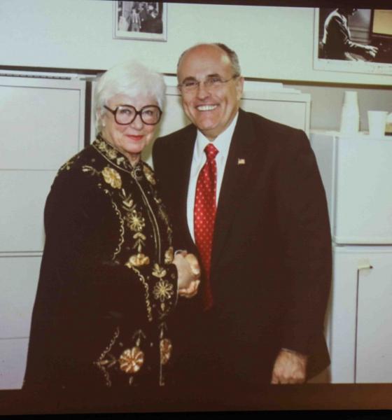 Ruth Henderson & Mayor Rudy Giuliani Photo