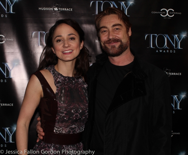 Lydia Leonard and Nathaniel Parker