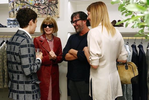 Alex Sharp, Anna Wintour, and Billy Reid