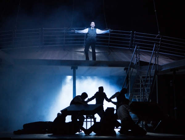 Greg Castiglioni and the cast of TITANIC: The Musical