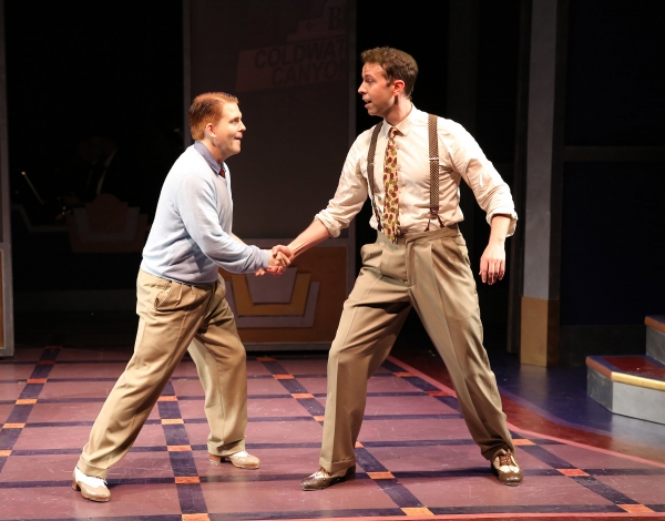 Robert Creighton as the legendary James Cagney and Jeremy Benton as Bob Hope take on a tap dance challenge