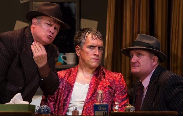 Joel Blum as First Man, Mike McGowan as Fred Graham, and Brendan Averett as Second Man