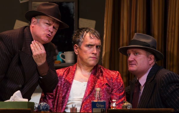 Joel Blum as First Man, Mike McGowan as Fred Graham, and Brendan Averett as Second Ma Photo