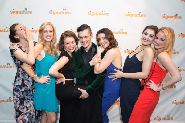 Wesley Taylor (Emcee) with the Kit Kat Girls (Shayna Blass, Colleen Hayes, Jessica Thorne, Jamie Eacker, Maria Rizzo, and Rachel Schur