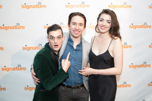 Wesley Taylor (Emcee) and Barrett Wilbert Weed (Sally Bowles) with Director and Choreographer Matthew Gardiner