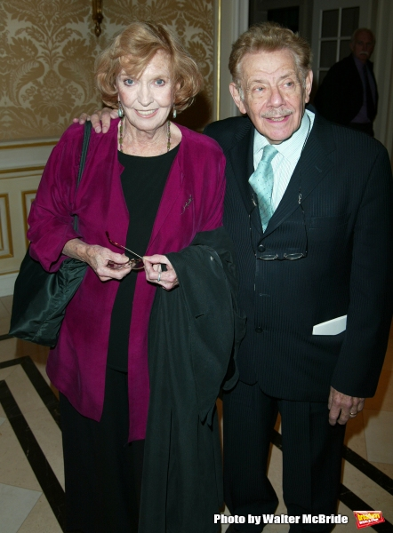 ANNE MEARA and JERRY STILLER Attending the Signature Theatre Company Honors Event at  Photo