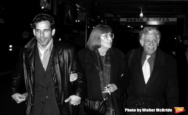 Ben Stiller  with his parents Jerry Stiller and Anne Meara Attending the opening night performance of THREE SISTERS at the Roundabout Theatre in New York City. May 21, 1998