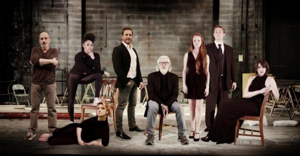 L to R: Philip Hoffman (Thénardier), Liz Larsen (Madame Thénardier), Ariana DeBose (Éponine), David Harris (Valjean), Terrence Mann (Javert), Chandler Lovelle (Cosette), Will Bryant (Enjolras) and Alex Zeto (Fantine)