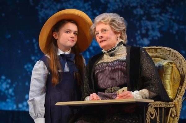 Madame Armfeldt (Tony Award nominee Dana Ivey) speaks with her granddaughter, Fredrika Armfeldt (Brigid O'Brien)