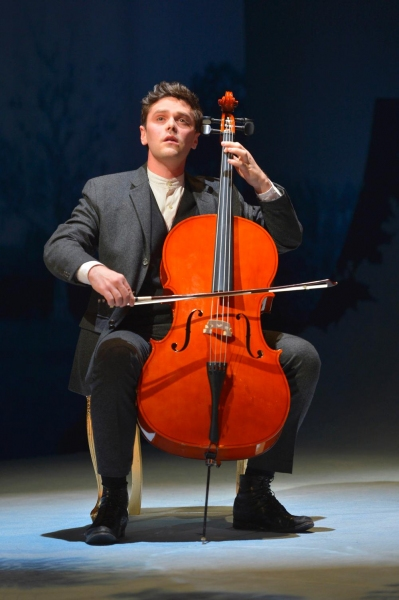 Henrik Egerman (Justin Scott Brown) practices the cello