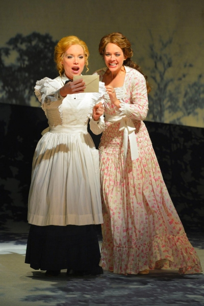 Petra (Marissa McGowan) and Anne Egerman (Laurie Veldheer) receive an invitation to a party at Madame Armfeldt�s house