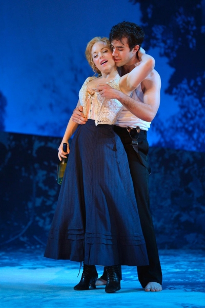 Petra (Marissa McGowan) and Frid (Michael McIntire) embrace