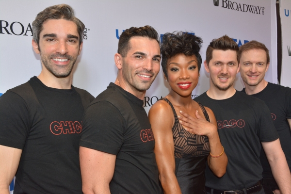 Brandy Norwood and her boys-David Bushman, Peter Nelson, Denny Paschall and Michael Scirrotto