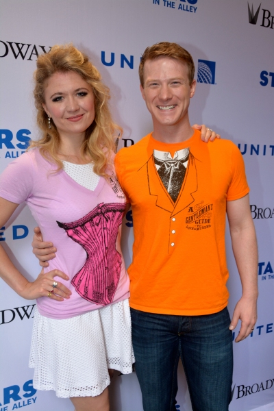Scarlett Strallen and Jeff Kready