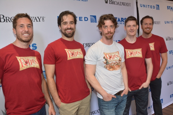 Christian Borle and the cast of Something Rotten!