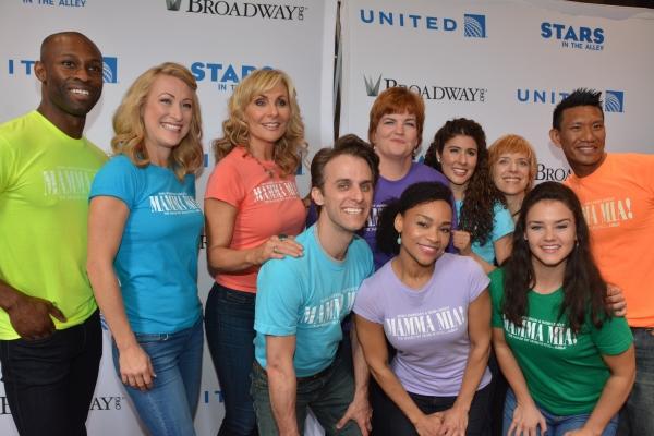 Judy McLane, Alison Ewing, Mary Callanan and the company of Mamma Mia!