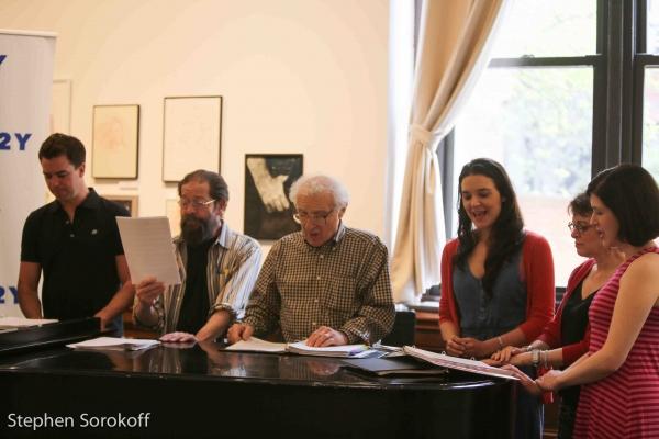 Ross Lekites, Jonathan Hadary, Sheldon Harnick, Kerry Conti, Judy Blazer, Leah Horowi Photo