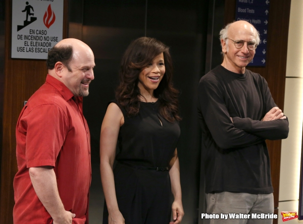 Jason Alexander, Rosie Perez and Larry David