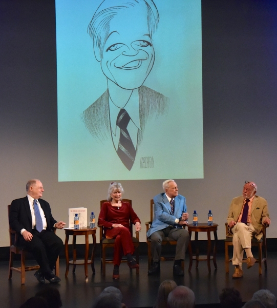 Frank Rich, Louise Kerz HIrschfeld, Robert Osbourne and Harold Prince Photo