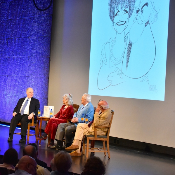 Frank Rich, Louise Kerz HIrschfeld, Robert Osbourne and Harold Prince