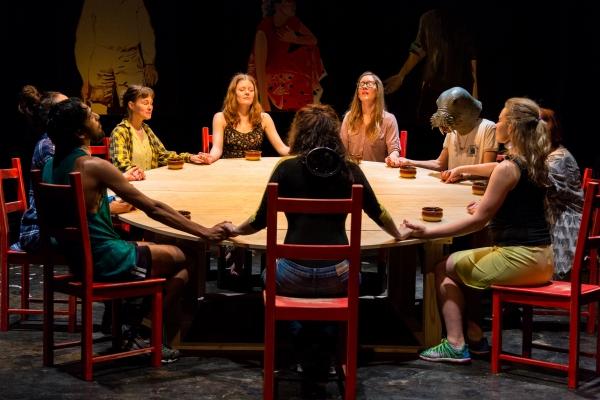Dana Kaplan Angle, Catherine Brookman, Joyce Miller and the cast Photo