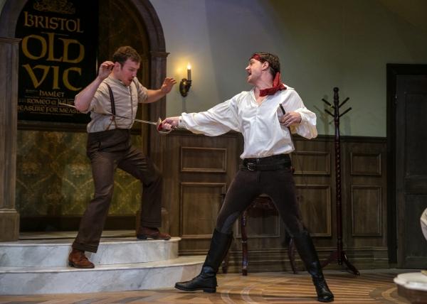 McDermott (Ryan McCarthy) and Tony Cavendish (Benjamin Sterling) practice their swordfighting.