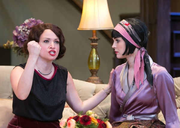 Julie Cavendish (Roxanna Hope) begs her daughter Gwen Cavendish (Samantha Bruce to not give up her career as an actress for a man.