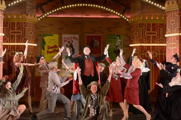 Stuart Zagnit and the company of THE PRODUCERS