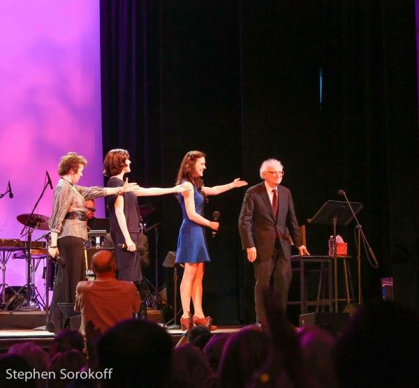 Judy Blazer, Leah Horowitz, Kerry Conte, Sheldon Harnick
