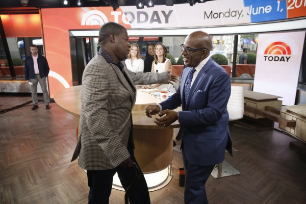 TODAY -- Pictured: (l-r) Tracy Morgan and Al Roker appear on NBC News'' ''Today'' show on Monday, June 1, 2015 -- (Photo by: Peter Kramer/NBC)